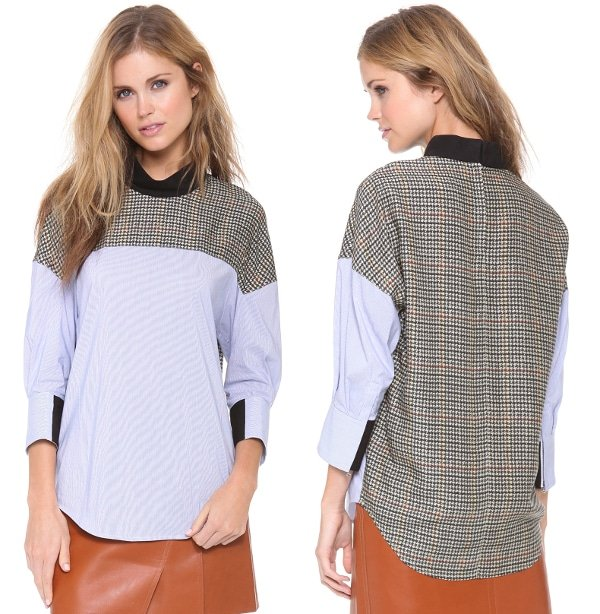 Patchwork Front to Back Shirt