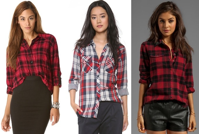 red-plaid-top