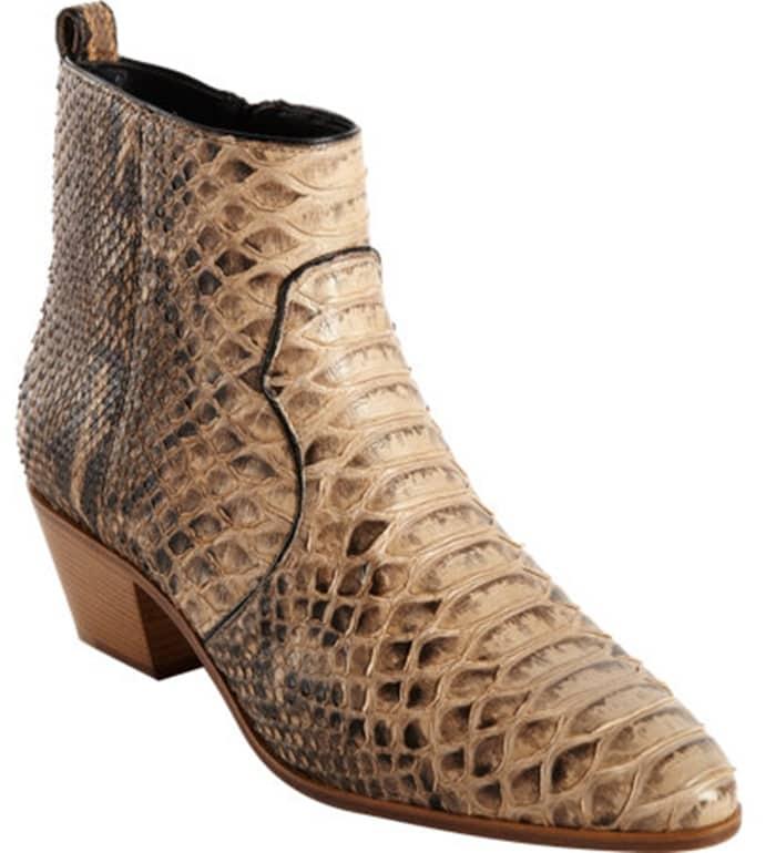 Saint Laurent Rock Python Ankle Boots