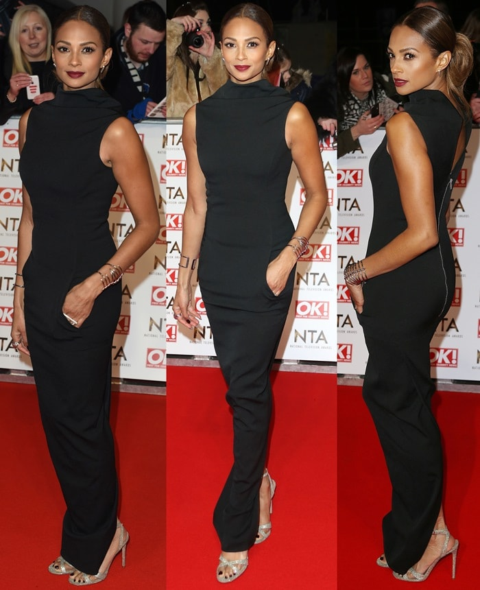Alesha Dixon at the 2015 National Television Awards at London's 02 Arena on January 21, 2015