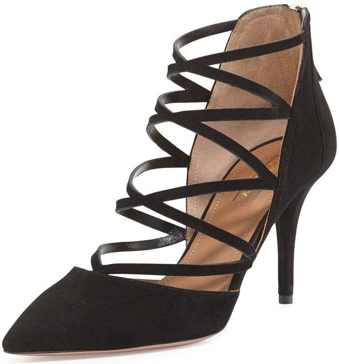 Aquazzura Black Suede Electric High Heels