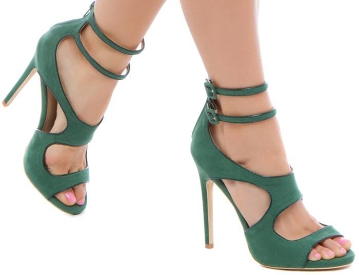 Ayemeline Emerald Sexy Strappy Sandals
