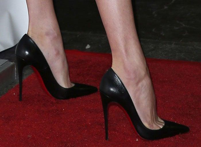 Behati Prinsloo's sexy feet in Christian Louboutin shoes