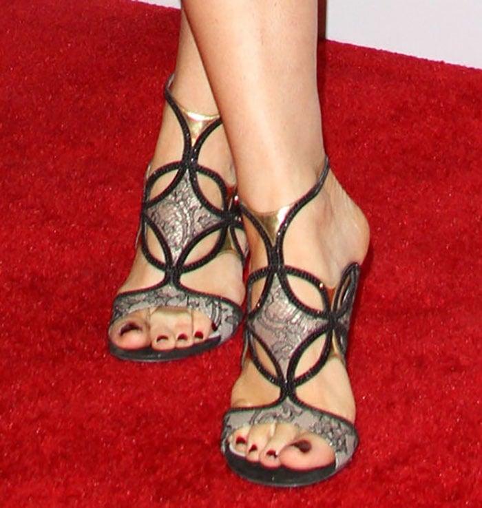 Bellamy Young wearing Rene Caovilla shoes
