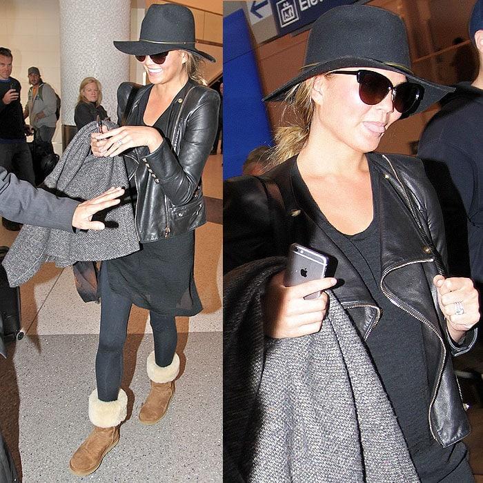 Chrissy Teigen uggs LAX airport