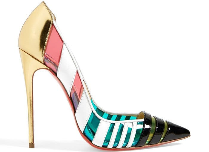 Turn up the color in this colorful pointy-toe pump
