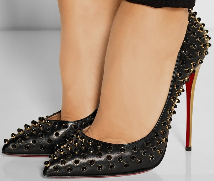 Christian Louboutin Follies Cabo 120 embellished leather pumps