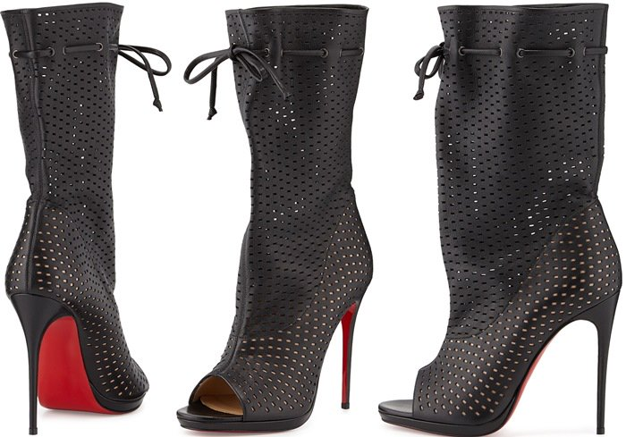Christian Louboutin Jennifer Perforated Red Sole Boot