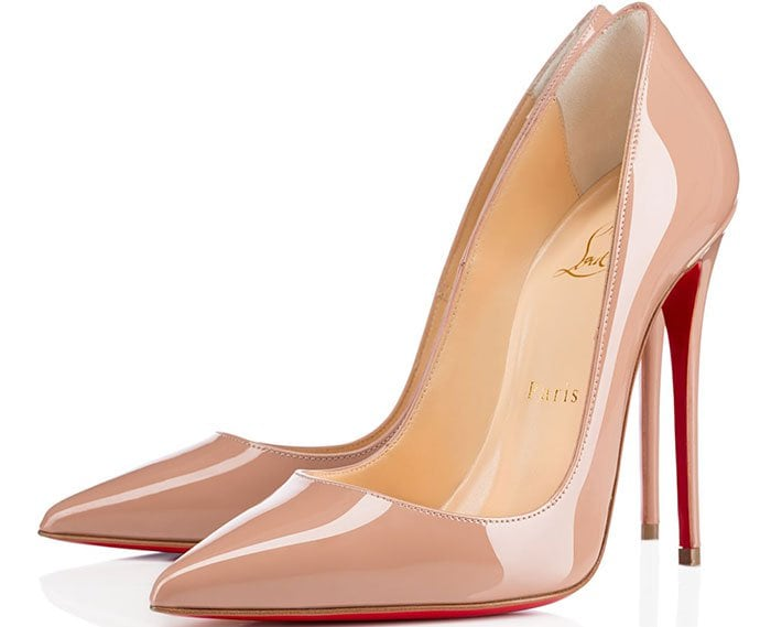 Christian Louboutin So Kate Tie-Dye Patent Red Sole Pump in Nude