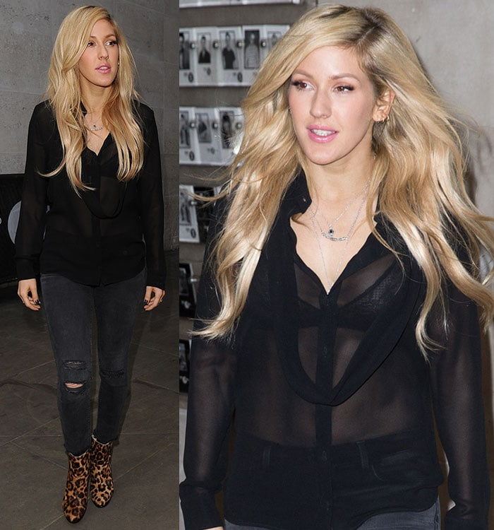 Ellie Goulding at the BBC Radio 1 studios in London, England, on January 29, 2015