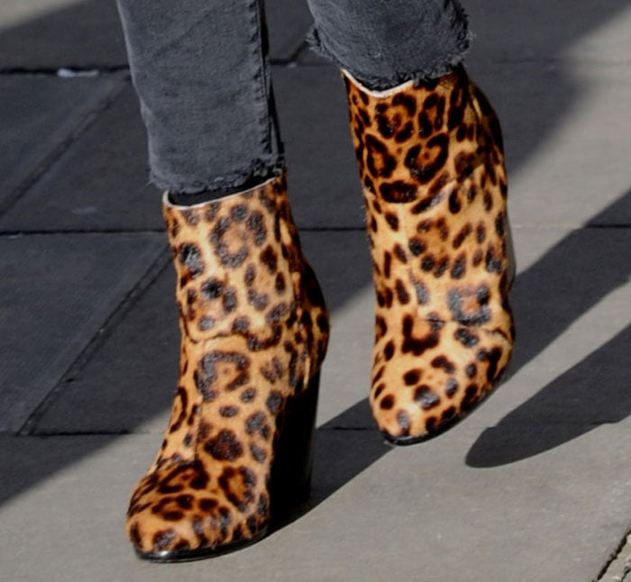 Ellie Goulding's leopard-print boots by Rag & Bone