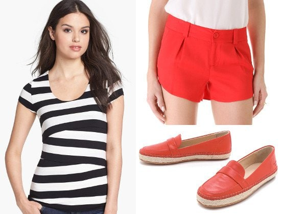 Get Taylor Swift's striped tee performance look