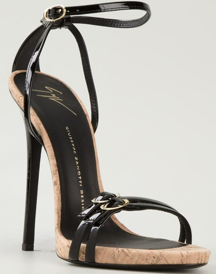 Giuseppe Zanotti Design Cork Detail Strappy Sandals