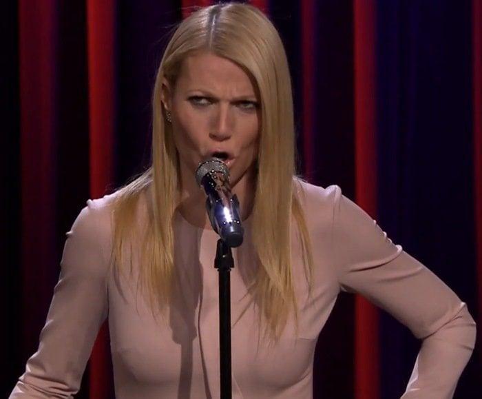 Gwyneth Paltrow sings Broadway versions of rap songs