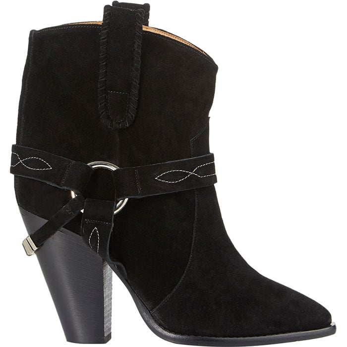 Isabel Marant Rawson suede black ankle boots