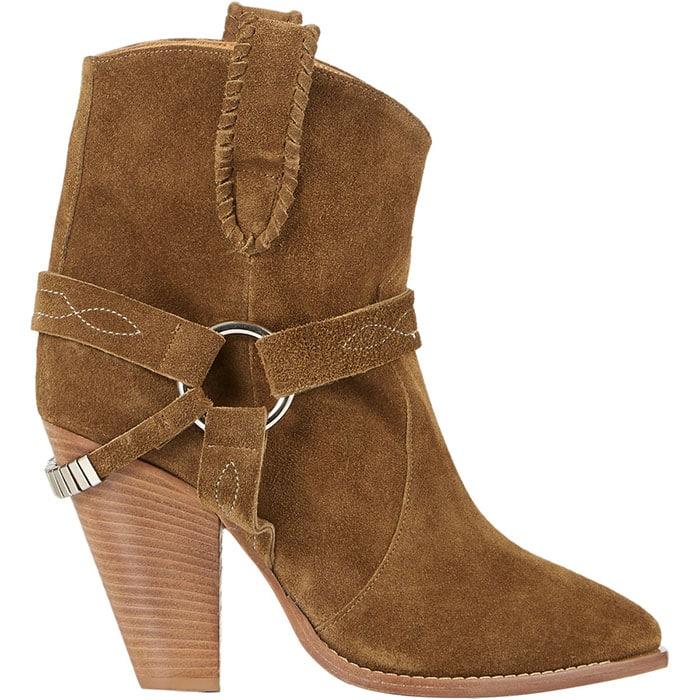 Isabel Marant Rawson khaki suede ankle boots