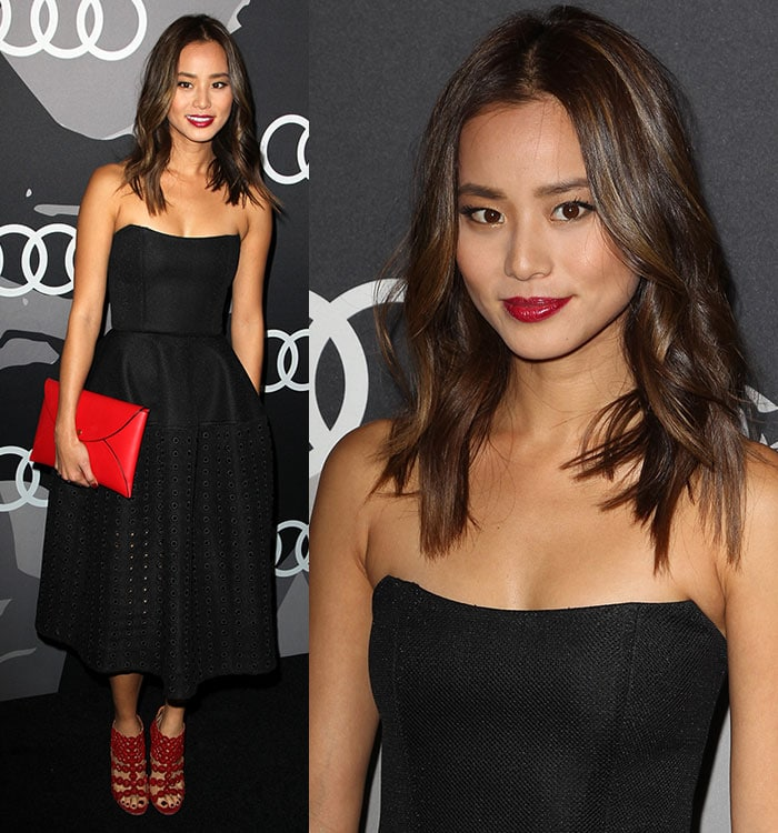 Jamie Chung oozed sex appeal with her tousled hair