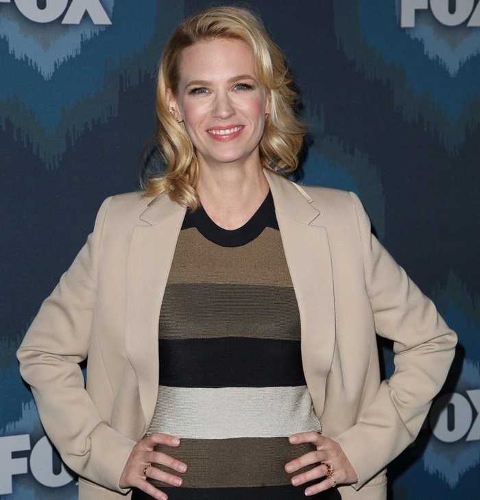 January Jones showed that she needs a new stylist at the 2015 Fox Winter Television Critics Association All-Star Party