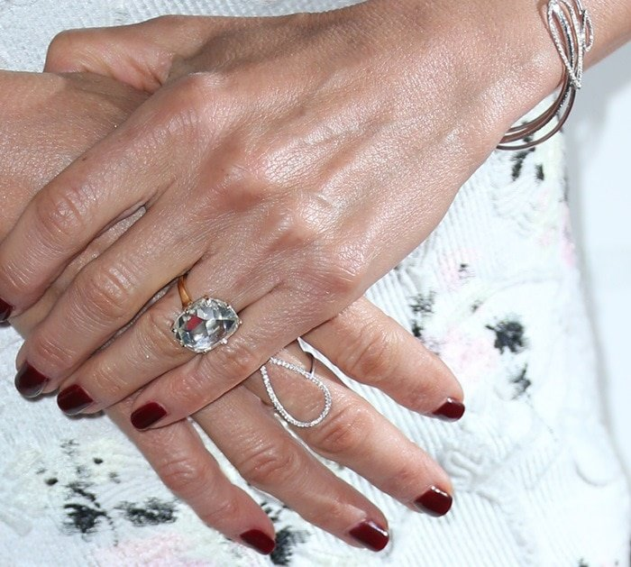 Jennifer Aniston's eight-carat, emerald-cut diamond engagement ring