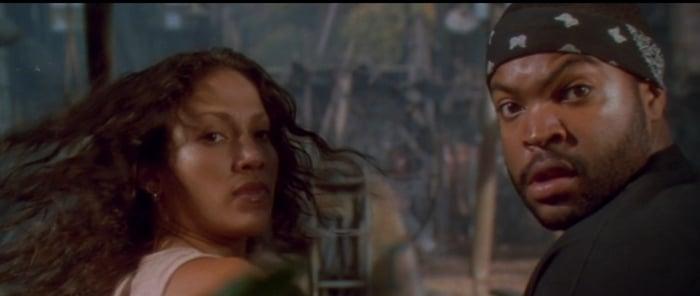 Jennifer Lopez starred with Ice Cube in the 1997 American adventure horror film Anaconda