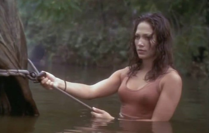 Jennifer Lopez was 26-years-old when filming Anaconda as Terri Flores