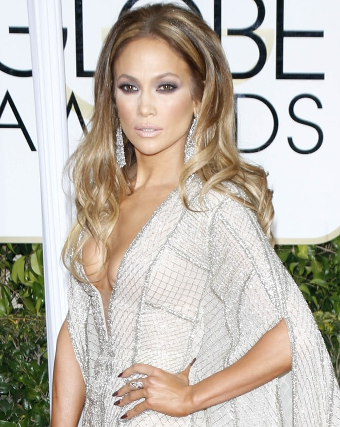 Jennifer Lopez with sideboob at the 72nd Annual Golden Globe Awards