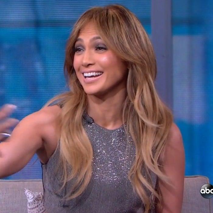 Jennifer Lopez's sparkly silver crop-top