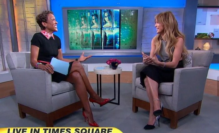 Jennifer Lopez makes an appearance on Good Morning America in New York City on January 19, 2015