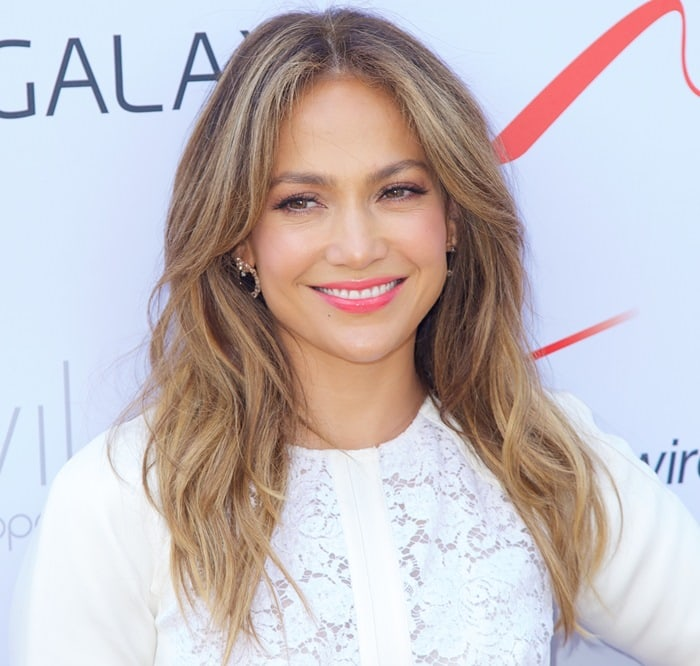 Jennifer Lopez at the Viva Movil by Jennifer Lopez flagship store opening in Brooklyn in New York City on July 26, 2013