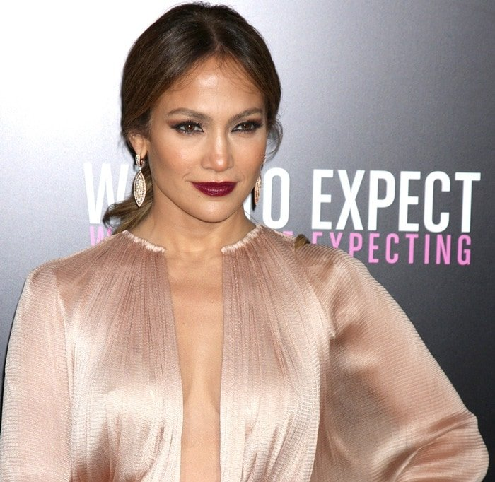 Jennifer Lopez at the premiere of her latest movie 'What To Expect When You're Expecting' held at Grauman's Chinese Theatre in Hollywood on May 14, 2012