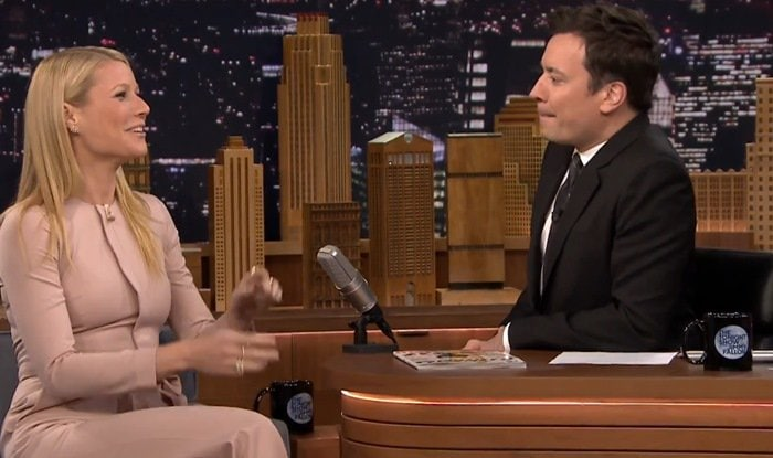 Gwyneth Paltrow makes an appearance on The Tonight Show Starring Jimmy Fallon in New York City on January 14, 2015
