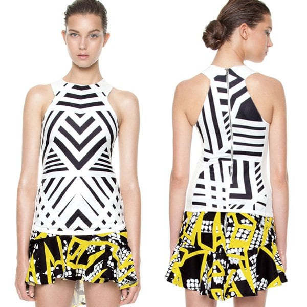 By Johnny Exclusive Black on White Lines Top
