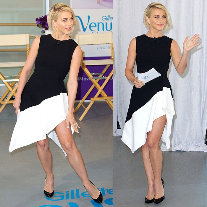 Julianne Hough showing off her version of the swirl and her own dance moves