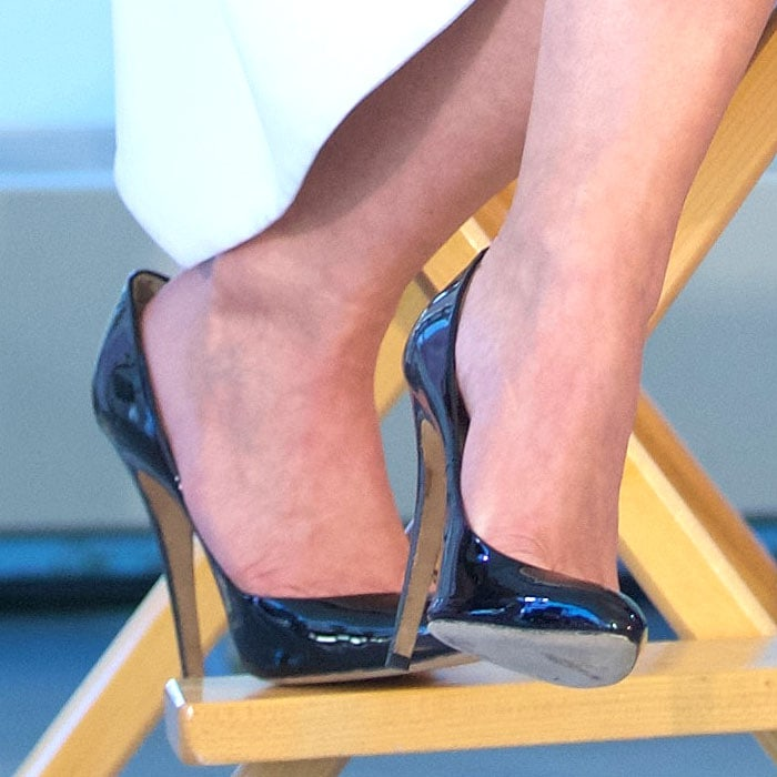 "The black patent pumps with at least 5-inch stiletto heels Julianne Hough wore for the ""Swirl"" Dance Off"