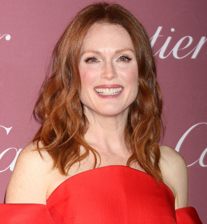 Julianne Moore's coral dress from the Delpozo Spring 2015 collection