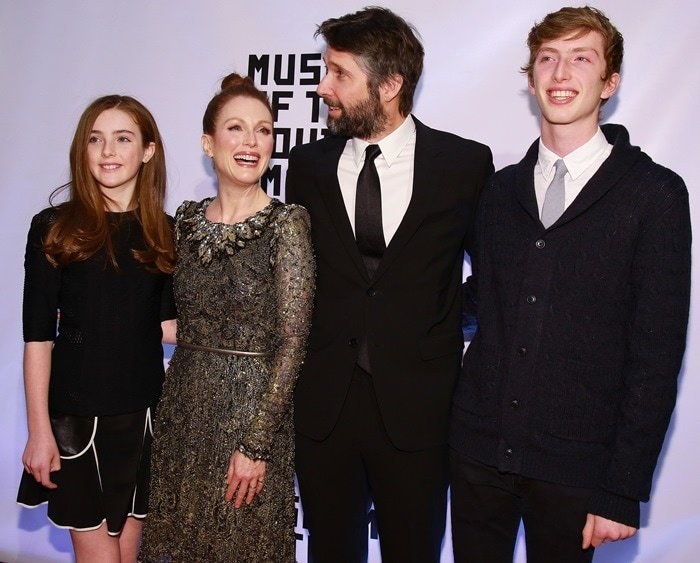 Julianne Moore was joined at the gala by lookalike daughter Liv, son Caleb, and director husband Bart Freundlich
