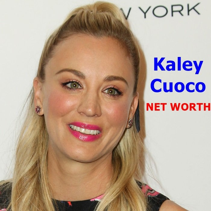 Kaley Cuoco's net worth is $55 million