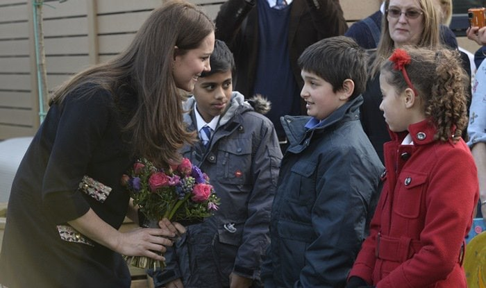 Kate Middleton interacted with some of the students at the school