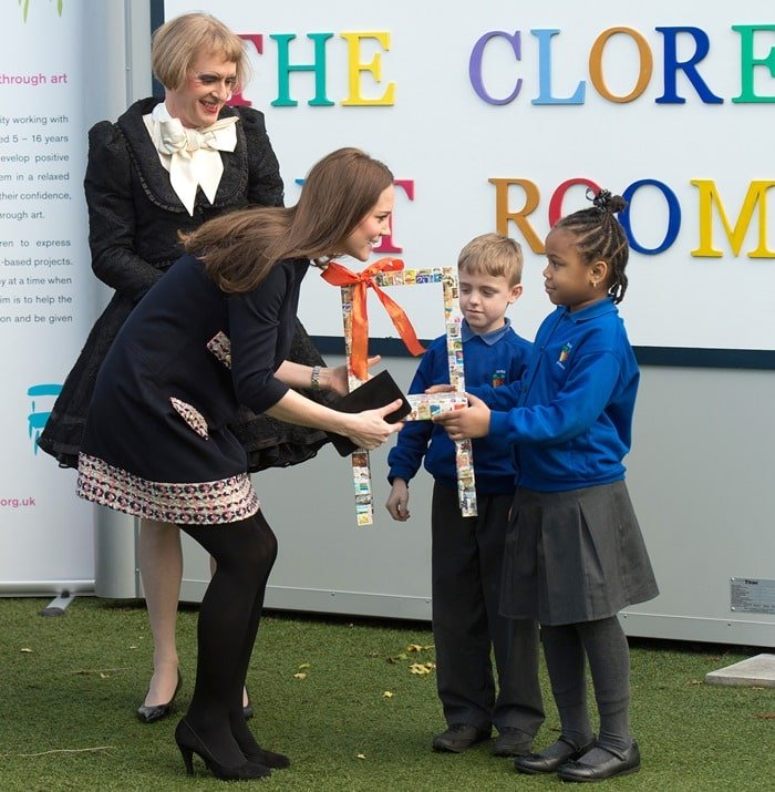 Kate Middleton's tweed & wool shift Naomi dress from Madderson London
