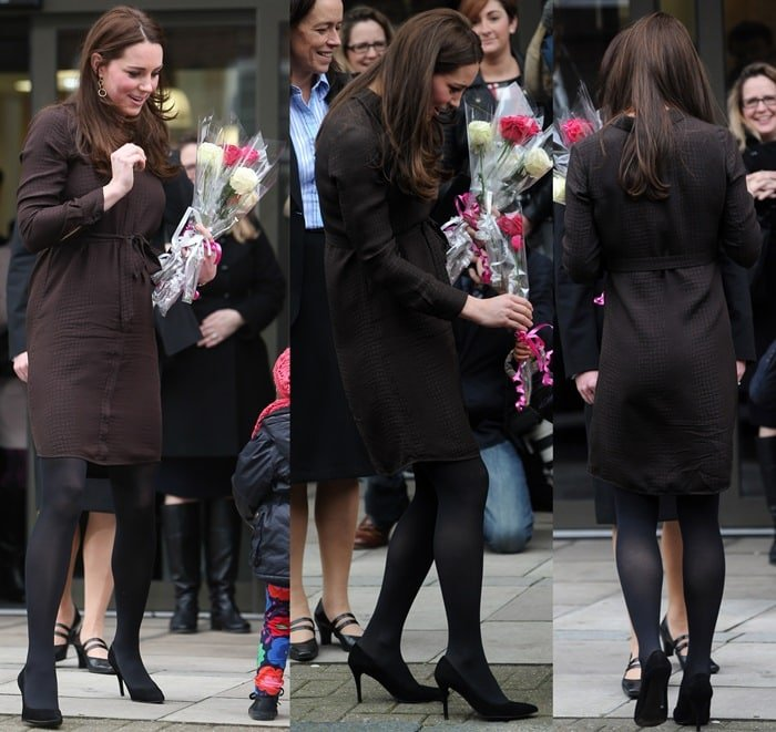 Kate Middleton worea classic shirt-dress from Hobbs