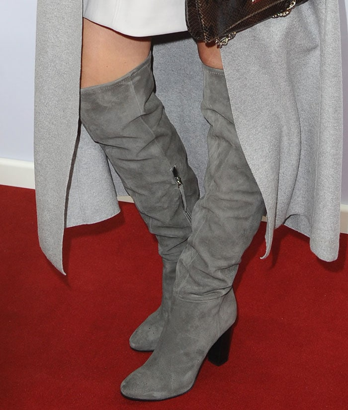 Katie Holmes rocked knee-high slouch boots
