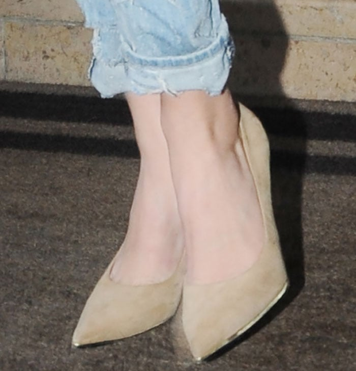 Kendall Jenner rocked nude Givenchy pumps