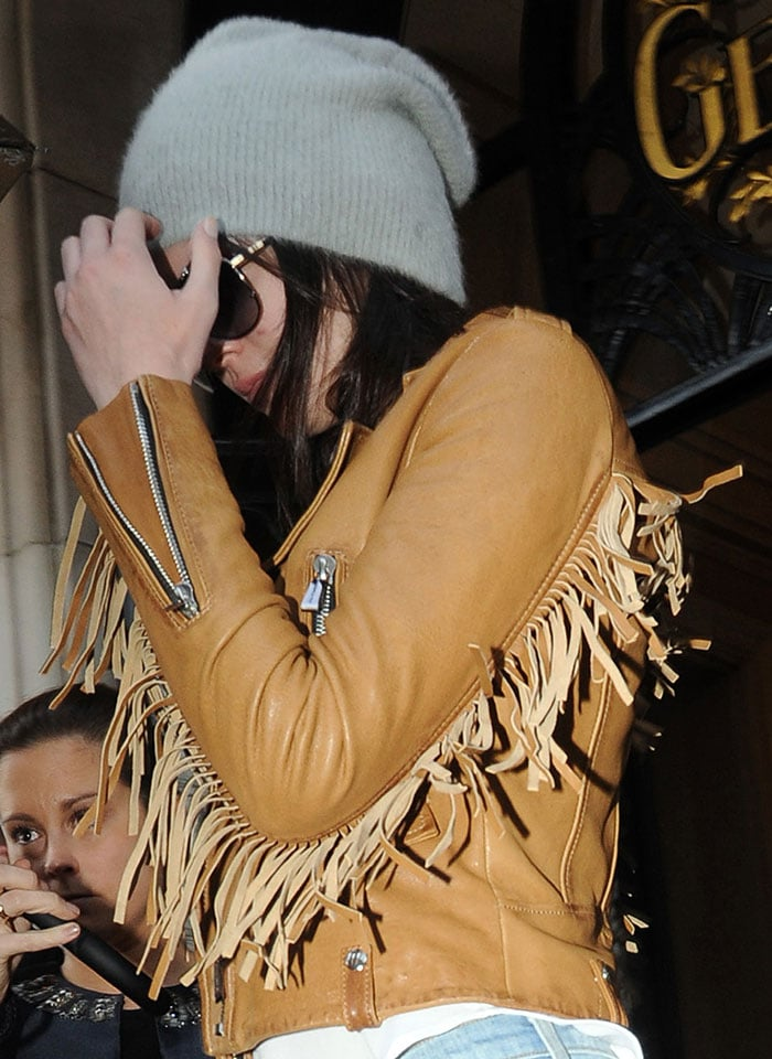 Kendall Jenner leaving Four Seasons Hotel George V in Paris, France, on January 27, 2015