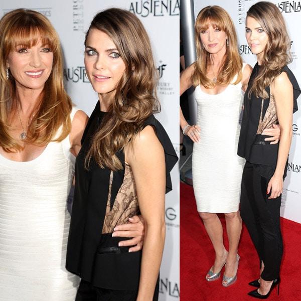Keri Russell working the red carpet with Jane Seymour