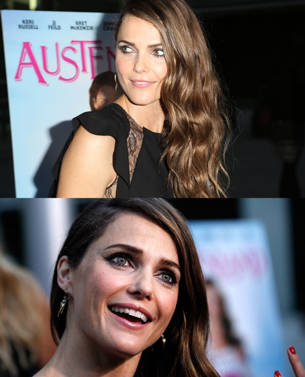 Keri Russell looking radiant at the 'Austenland' red carpet premiere