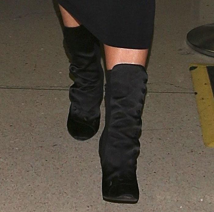 Kim Kardashian's Balmain stiletto boots