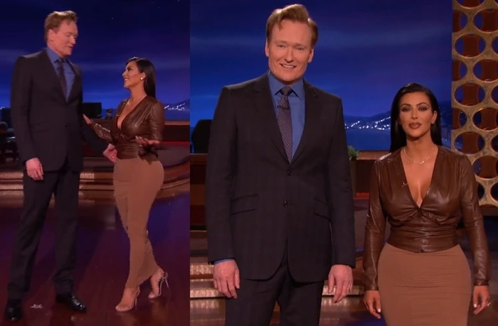 Kim Kardashian and Conan O'Brien