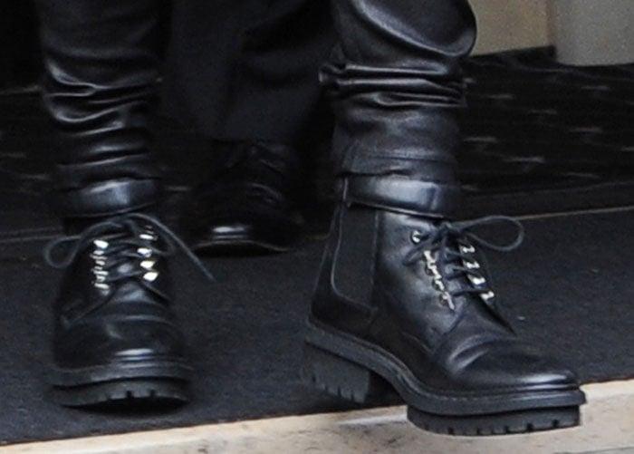 Kris Jenner's Balenciaga biker boots