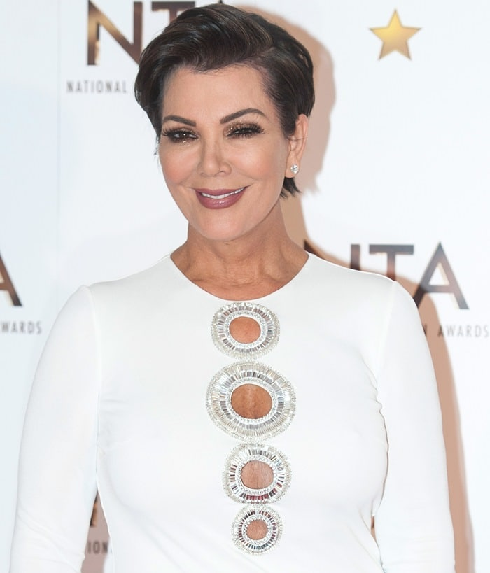 Kris Jenner at the 2015 National Television Awards at London's 02 Arena on January 21, 2015