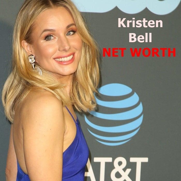 Kristen Bell's net worth is $20 million